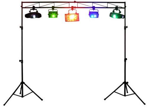 Odyssey Ltmts8 8 Feet Portable Mobile DJ Truss Kit Lighting Stand and Truss Package (Dj Light Stand With Case)