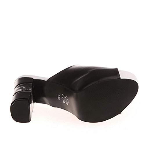 Y uk4 Los Black Plataforma La Deslizadores color Tacones De Eu36 Las Donglu Tamaño Verano Sandalias Pescados Del cn36 Boca Señoras qIFpUw0