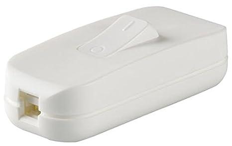 legrand 040192E Interruptor Estrecho de Paso para Lámpara, 250 V, Blanco