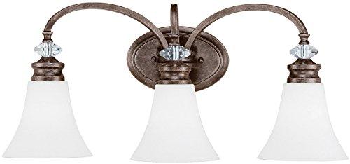 11 Light Crystal - Craftmade 26703-MBS-WG Boulevard Crystal Vanity Wall Lighting, 3-Light, 300 Watts, Mocha Bronze (25