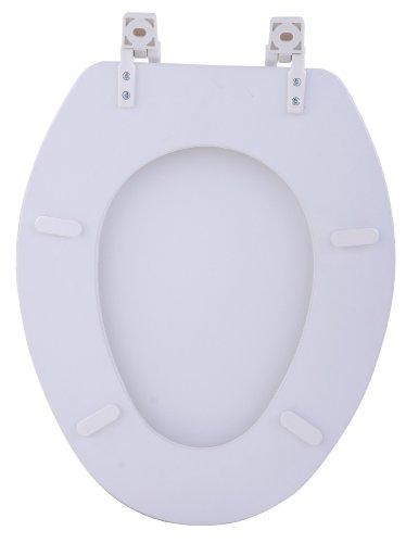 Achim Fantasia 19 Inch White Soft Elongated Vinyl Toilet
