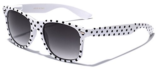 Polka Dot Retro Fashion Wayfarer Sunglasses - 100% UV400 - - Online Buy Cheap Sunglasses