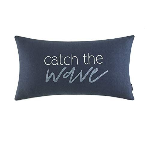 Nautica Catch The Wave Throw Pillow, 14 x 26, Navy