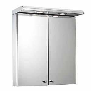 Croydex wc266205e shire armario de dos puertas en acero - Armarios de acero inoxidable ...