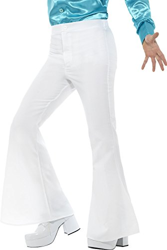 Smiffy's Flared Trousers Man, White, Large]()