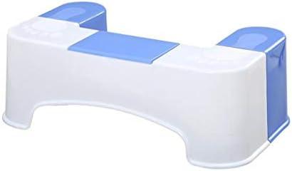 ティッシュボックス便座のフットスツール滑り止めの取り外し可能なプラスチックスクワットスツール便秘を和らげる、膨満感 B