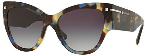 Valentino Gray Lens - Valentino VA4028 Havana/Gray Lens Sunglasses