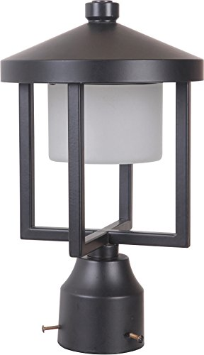 12.5 Inch High Post Mount - Craftmade Z9215-MN-LED Alta Outdoor LED Post Mount, Midnight 1-Light (8
