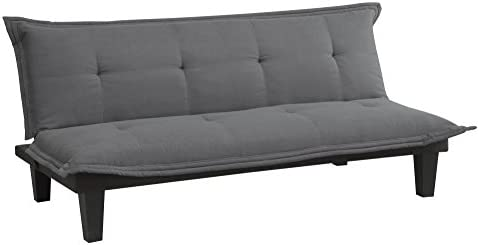 picture of DHP Lodge Convertible Futon Couch Bed - Microfiber Upholstery and