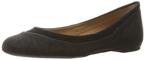 French Sole FS/NY Women's Ping Ballet Flat, Black, 8 B US - Stingray Socks