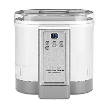 Cuisinart CYM-100 Electronic Yogurt Maker with Automatic Cooling (Renewed)