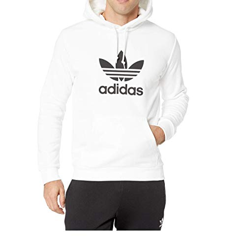 adidas Originals Men's Trefoil Hoodie, White, Small ()