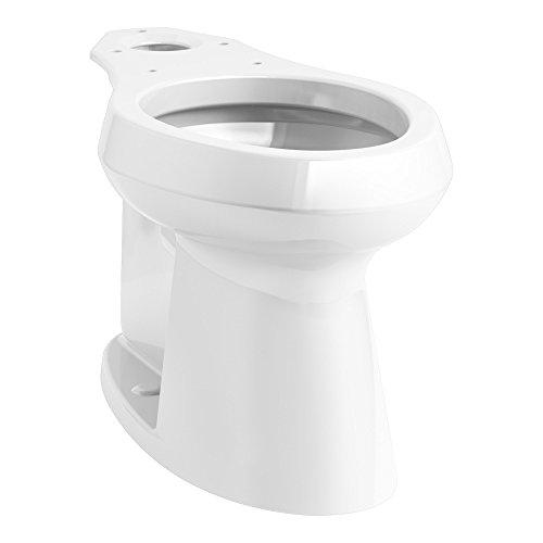 KOHLER K-80020-0 Highline Concealed Trapway Comfort Height Elongated Bowl, White (0 White Highline Elongated Bowl)