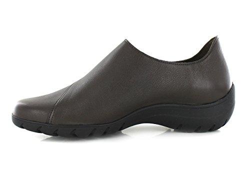 scarpa LUCE con MEPHISTO donna zeppa velcro GRAPHITE 3cm accollata xEwnpq