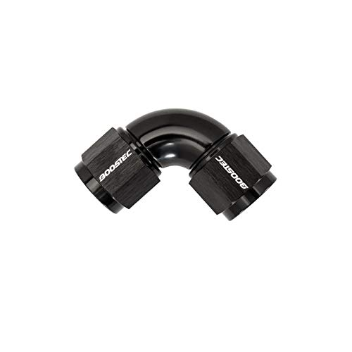 One-Piece Full-Flow 90 degree Swivel Union Coupler Adapter Fitting - AN8 Female to Female