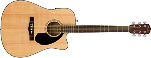 Fender CD-60SCE Acoustic-Electric Guitar - Dreadnaught Body Style - Natural Finish by Fender