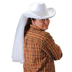 [Western Bride's Hat Party Accessory (1 count) (1/Pkg)] (White Trash Lady Costume)