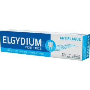 THREE PACKS of Elgydium Anti-Plaque Toothpaste x 75ml/100g