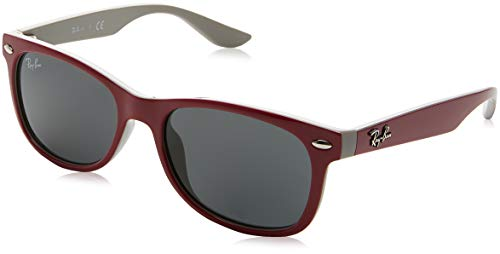 Ray-Ban Junior RJ9052S New Wayfarer Kids Sunglasses, Red/Grey, 47 - Sunglasses Acetate 87