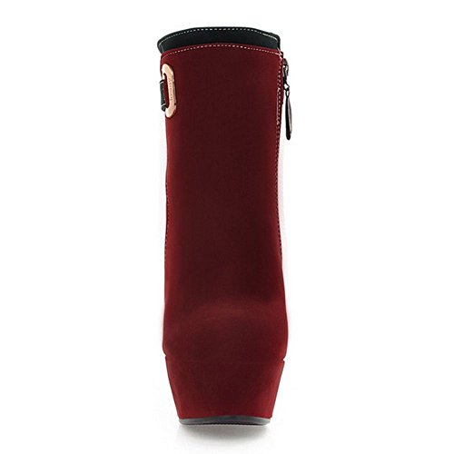 Red Sexy Booties Women Wine COOLCEPT F65IwSqgcx