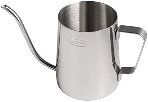 Long Narrow Spout Coffee Pot Small - Newness 304 Stainless Steel Hanging Ear Hand Blunt Pour Over Drip Pot for Coffee Maker, Hanging Ear Coffee Bag Lover, 1.37 Cup 11 Ounces, 330 Milliliter