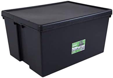 Wham Bam Heavy Duty reciclado Caja – 150 L, con Tapa – 80 x 59,5 x 42 cm – Negro: Amazon.es: Hogar