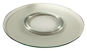 High Quality Chintaly Imports Round Spinning Tray, 24 Inch, Clear