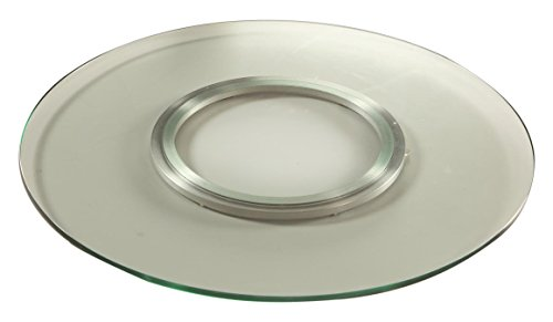 Chintaly Imports Round Spinning Tray, 24-Inch, Clear from Chintaly Imports