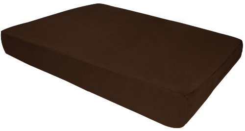 Big Barker 7'' Pillow Top Orthopedic Dog Bed - Large Size - 48 X 30 X 7 - Chocolate - For Large and Extra Large Breed Dogs (Sleek Edition) by Big Barker (Image #8)