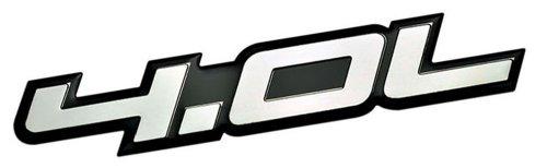 4.0L Liter Embossed SILVER on Black Highly Polished Silver Real Aluminum Auto Emblem Badge Nameplate for Chrysler Pacifica Town & and Country Dodge Coronet Nitro Grand Caravan Ford Aerostar Ranger Explorer Sport Trac Mustang Jeep Grand Cherokee Comanche Wagoneer Wrangler