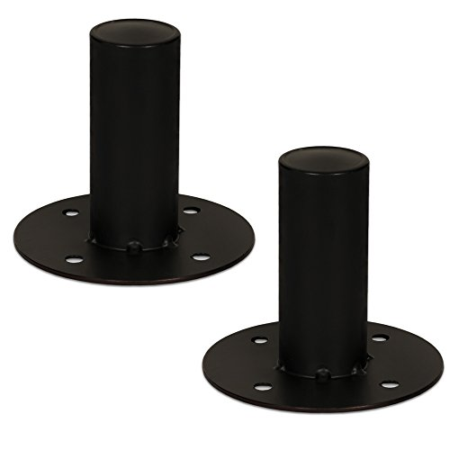 Goldwood Speaker Stand Top Hat 2 Speaker Cabinet Pole Mount Black (TH44)