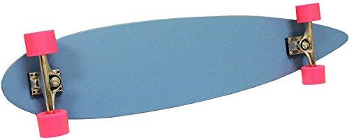 ブルーPintail Longboard Skateboard Complete 9 in X 43 In With Colo赤ホイール