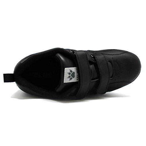 Les chaussures de sport avec velcro coin Kelme en noir