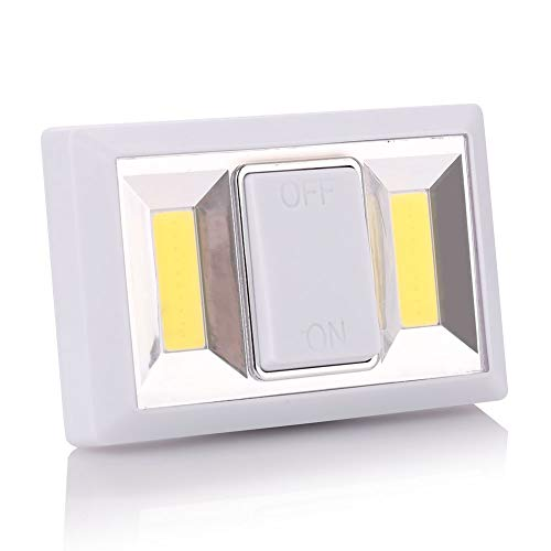 LED Night Light, impermeable 180 Lumen inalámbrico COB LED-Light Switch, debajo del gabinete, estante, armario, garaje,...