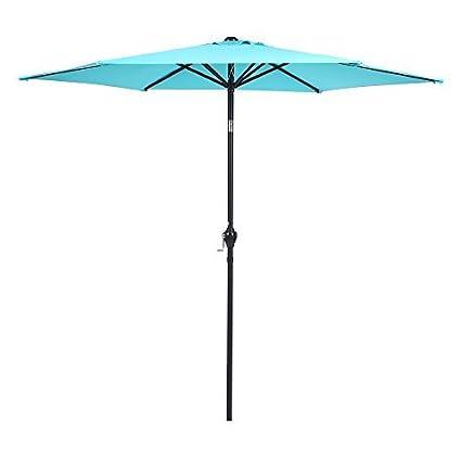 Amazoncom Apex Living 9 Ft Steel Patio Umbrella With Tilt And