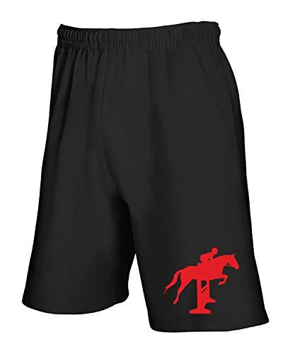 Jumper shirtshock And T Show Rider Horse Nero Pantaloncini Wes065633 Tuta 8qdYrq