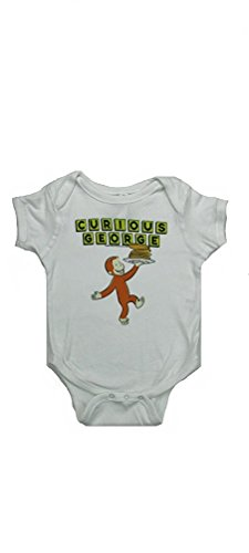 - Curious George Pancakes Baby Creeper Bodysuit - White (18 Months)