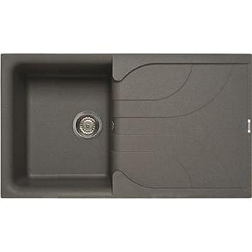 Waschbecken küche granit  Elleci Ego 400 Vitrotek 3G Black Waschbecken Spüle Granit Einbau ...