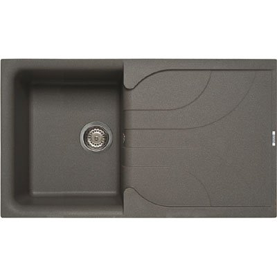 Elleci Ego 400 Metaltek Cromo Waschbecken Spüle Granit Einbau