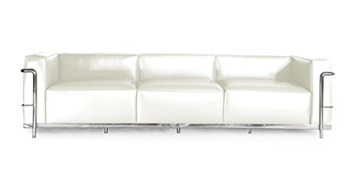Kardiel Roche Sofa 3 Seat, Cream White Aniline Leather