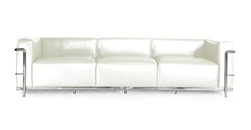 Kardiel Roche Sofa 3 Seat, Cream White Aniline Leather by Kardiel