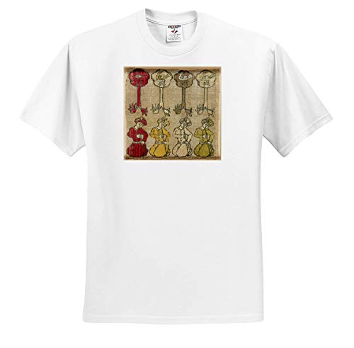 Lens Art by Florene - World Tapestries - Image of Four Men Play Flutes in This Ancient Textile from India - T-Shirts - White Infant Lap-Shoulder Tee (12M) (ts_302040_67)