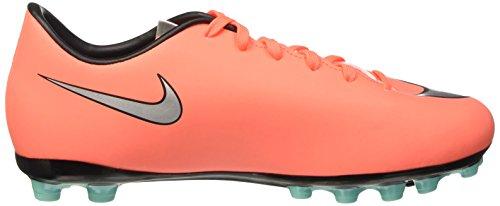 Nike Jr Mercurial Victory V Ag, Zapatillas de Deporte Para Niñas Amarillo / Plateado / Morado (Brght Mng / Mtllc Slvr-Hypr Trq)