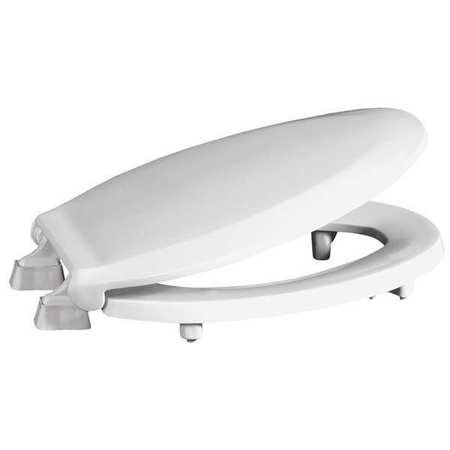 Toilet Seat, Elongated 19'' Closed Front, With Cover White