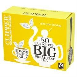 Clipper Fairtrade Big Breakfast Tea 80 per pack