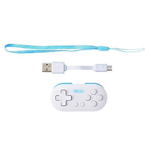 8Bitdo Zero Mini Pocket Bluetooth Gamepad Controller for Android Windows Mac Blue White