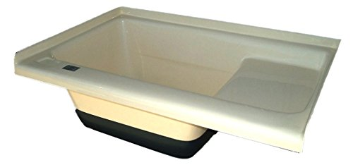 ICON Sit in Step Tub Left Hand Drain TU500LH, Colonial White