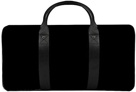 黒1 旅行バッグナイロンハンドバッグ大容量軽量多機能荷物ポーチフィットネスバッグユニセックス旅行ビジネス通勤旅行スーツケースポーチ収納バッグ