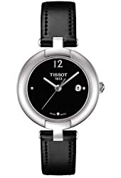 Tissot Trend Pinky Black Dial Black Leather Ladies Watch T0842101605700