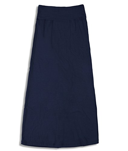 Free to Live Girls 716 Maxi Skirts  Great for Uniform Small Navy